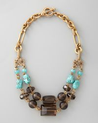 Stephen Dweck | Metallic Turquoise Smoky Quartz Necklace | Lyst