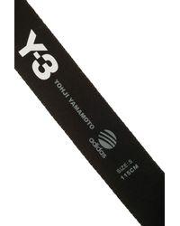 Y-3 - Black 3 Mb Logo Belt - Lyst