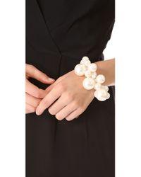 Adia Kibur - White Cluster Bracelet - Lyst