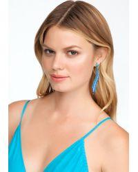 Bebe - Blue Wavy Ombre Linear Earring - Lyst
