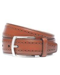 Brooks Brothers - Brown Allen Edmonds Perforated Belt for Men - Lyst