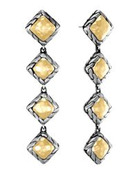 John Hardy - Metallic Palu Squaredrop Earrings - Lyst