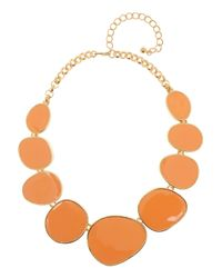 Kenneth Jay Lane - Orange Goldplated Enameled Necklace - Lyst