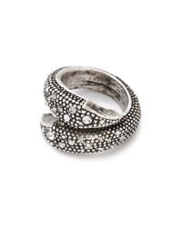 Made Her Think - Metallic Open Serpent Ring - Lyst