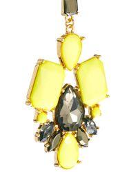 ASOS - Yellow Asos Summer Doorknocker Earrings - Lyst