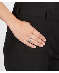 Bottega Veneta - Metallic Ring In Intrecciato Silver - Lyst