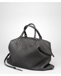 8ea57364f6 Bottega Veneta Ardoise Intrecciato Nappa Convertible Bag in Black - Lyst