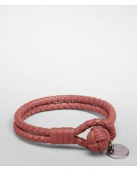 Bottega Veneta - Brown Boucher Intrecciato Nappa Bracelet for Men - Lyst