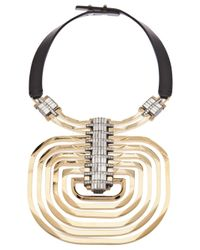 Lanvin | Metallic Dedale Pendant Necklace | Lyst