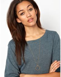 ASOS - Metallic Pernille Corydon Twisted Creol Necklace - Lyst