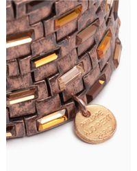 Philippe Audibert | Metallic Square Crystal Nine-row Elasticated Bracelet | Lyst