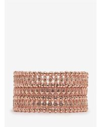 Philippe Audibert | Pink Phil Three-row Crystal Beaded Bracelet | Lyst