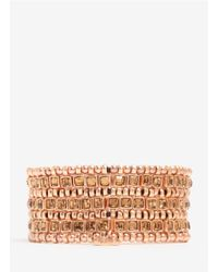 Philippe Audibert - Metallic Three-row Bead And Stone Bracelet - Lyst