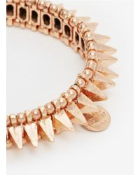 Philippe Audibert | Pink Spiked Elasticated Bracelet | Lyst