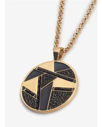 St. John | Metallic Textured Pendant Chain Necklace | Lyst