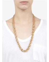 St. John - Metallic Multi-chain Necklace - Lyst