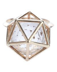 Zoe & Morgan | Metallic Icosahedron Ring | Lyst