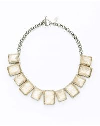 Ann Taylor | Pink Crystal Teardrop Statement Necklace | Lyst