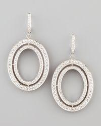 Ivanka Trump - White Signature Medium Oval Diamond Earrings - Lyst