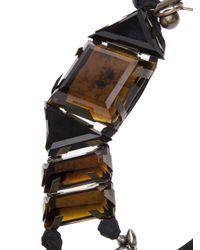 Lanvin | Brown Large Topaz Ribbon Necklace | Lyst