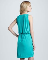 M Missoni - Blue Sleeveless Draped Jersey Dress - Lyst