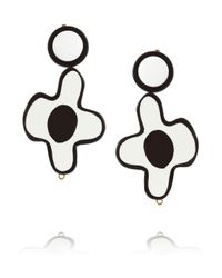 Marni | White Floral Resin Clip Earrings | Lyst