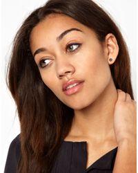 ASOS - Gray Pernille Corydon Rivet Stud Earrings - Lyst