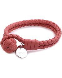 Bottega Veneta | Metallic Intrecciato Double-band Bracelet | Lyst