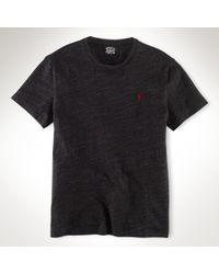 Polo Ralph Lauren | Black Custom-fit Cotton Tee for Men | Lyst