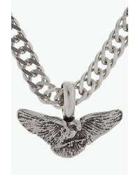Saint Laurent | Metallic Silver Wings Chain Necklace for Men | Lyst