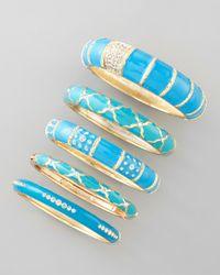 Sequin - Blue Enamel Bracelet Turquoise - Lyst