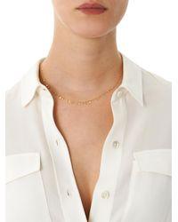 Sia Taylor | Metallic Yellow Gold Necklace Random Dots | Lyst