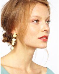 ASOS - Metallic Opaque Drop Earrings - Lyst