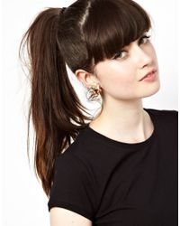 Marie Meili - Metallic Bill Skinner Exclusive To Asos Cherub Clip Earrings - Lyst