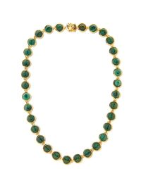 Eddie Borgo - Green Small Gemstone Cone Necklace - Lyst
