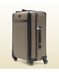 Gucci | Black Four Wheel Diamante Suitcase for Men | Lyst