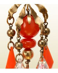 Gucci - Red Earrings with Coral Pendants - Lyst