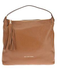 5cb0b6c283485d Lyst - MICHAEL Michael Kors Weston Large Shoulder Bag in Brown