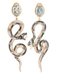 Percossi Papi - Blue Serpent Earrings - Lyst