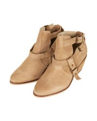 TOPSHOP - Brown Advance Cut Out Western Boots - Lyst