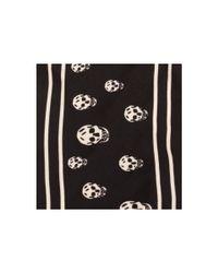 Alexander McQueen - Black Wrap Skull Scarf Bracelet - Lyst