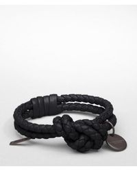 Bottega Veneta - Black Nero Intrecciato Nappa Bracelet for Men - Lyst