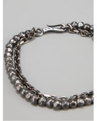 Bottega Veneta | Metallic Hammered Silver Charm Bracelet for Men | Lyst