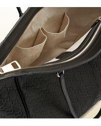 Gucci   Black Bree Ssima Leather Tote   Lyst