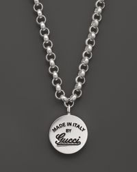 Gucci - Metallic Sterling Silver Craft Pendant Necklace 17 - Lyst