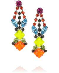 Tom Binns Multicolor Pendant Crystal Earrings