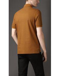 Burberry | Brown Doubleweave Piqué Cotton Polo Shirt for Men | Lyst
