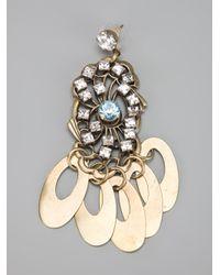 DANNIJO - Metallic Clancy Earrings - Lyst