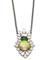 DANNIJO   Metallic Moritz Beaded Crystal Pendant Necklace   Lyst