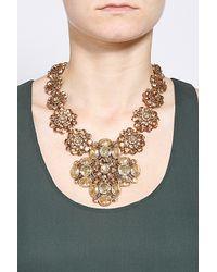 Oscar de la Renta - Metallic Multi Stone Large Necklace - Lyst